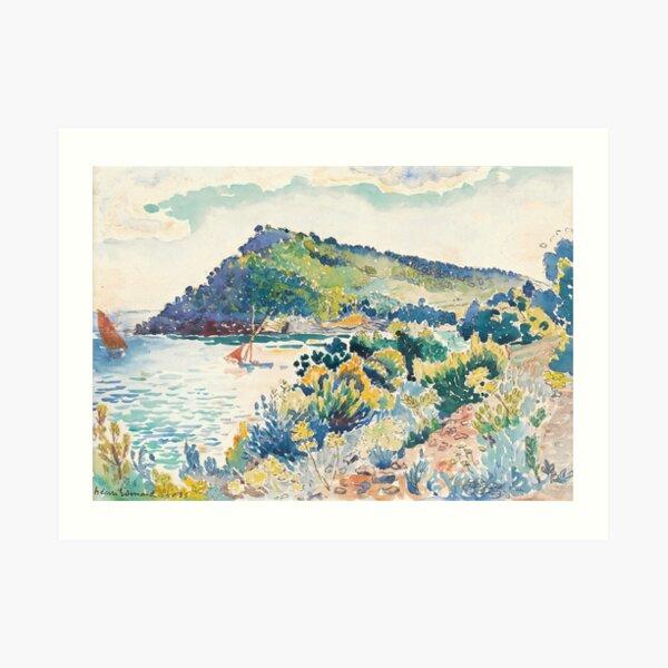 Henri Edmond Cross - ÉTUDE POUR LE CAP NÈGRE Art Print