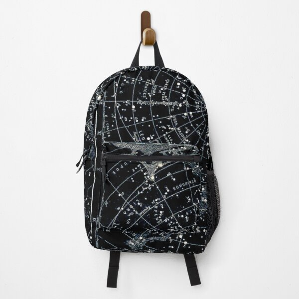 STAR CONSTELLATIONS : Vintage 1900 Galaxy Chart Map Backpack
