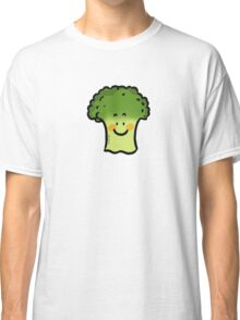 Cute veggie broccoli cartoon Classic T-Shirt