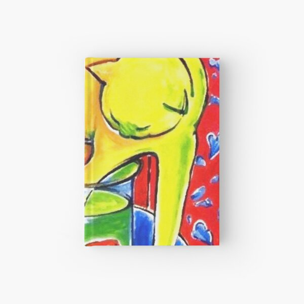 Henri Matisse, Le Chat Aux Poissons Rouges 1914, (The Cat With Red Fishes), Artwork, Men, Women, Youth Hardcover Journal