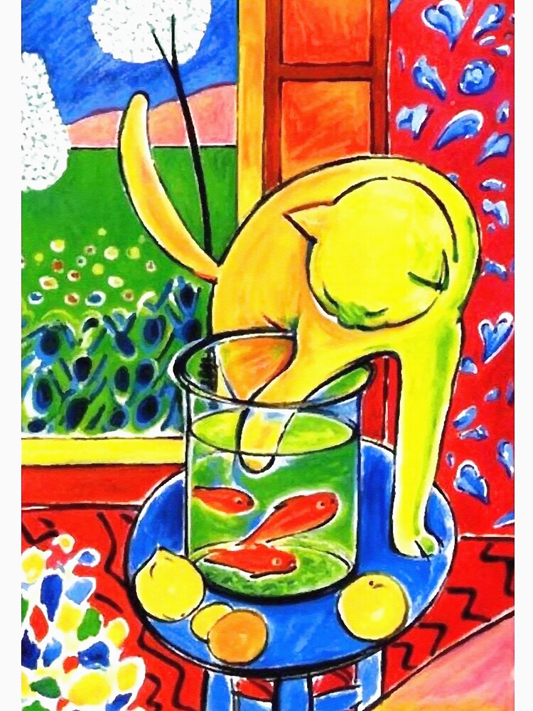 Henri Matisse, Le Chat Aux Poissons Rouges 1914, (The Cat With Red Fishes), Artwork, Men, Women, Youth by clothorama