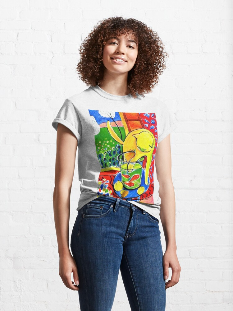 Alternate view of Henri Matisse, Le Chat Aux Poissons Rouges 1914, (The Cat With Red Fishes), Artwork, Men, Women, Youth Classic T-Shirt