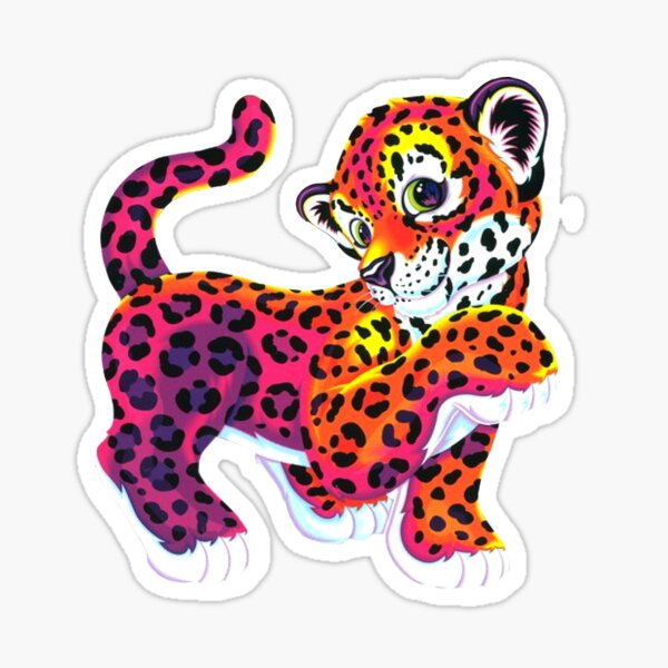 Lisa frank tiger funny lisa rainbow Sticker