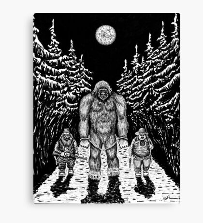 End of Bigfoot pen ink drawing Canvas Print