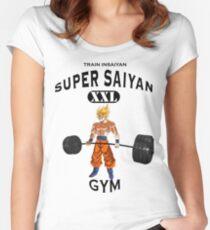 Super Saiyan Gym Women's Fitted Scoop T-Shirt