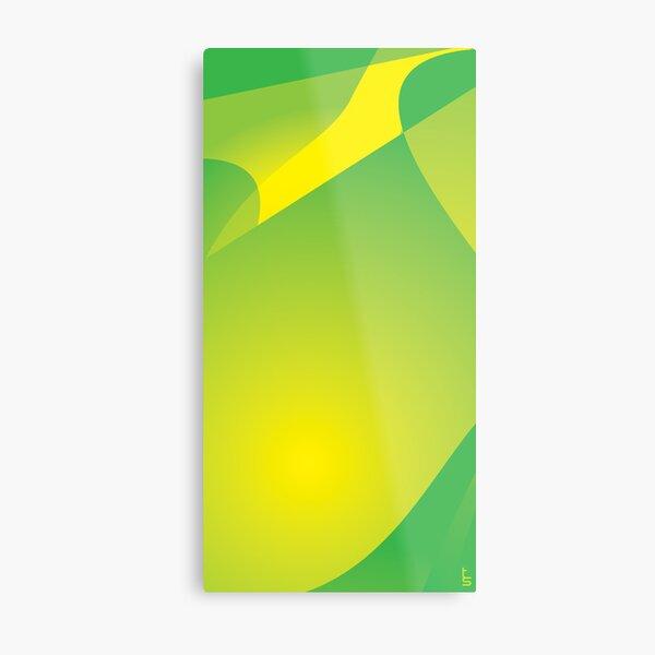 Green Tonal Collision Metal Print