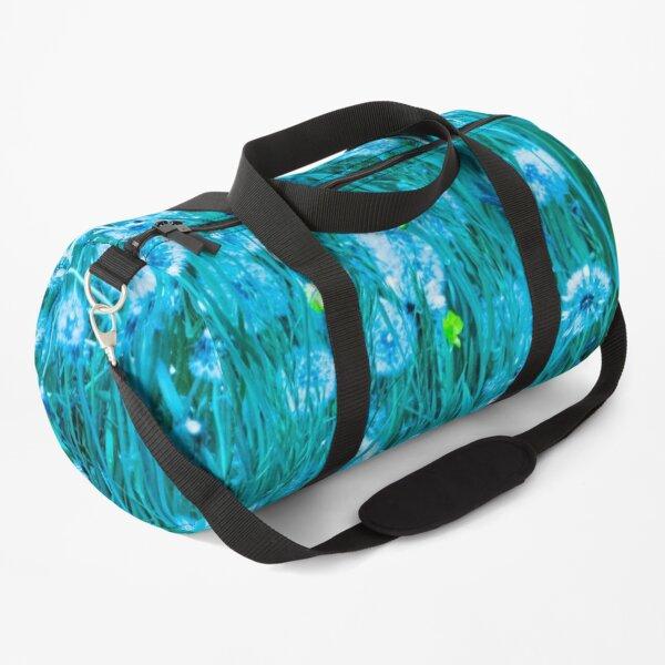 Dandelion meadow in turquoise Duffle Bag
