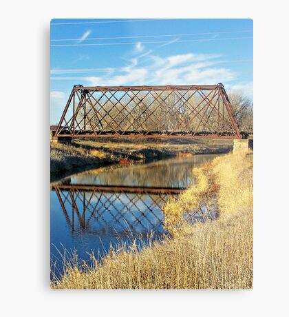 Rusty Reflection Metal Print