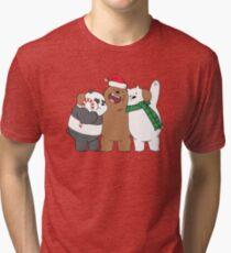 BEARY CHRISTMAS. Tri-blend T-Shirt