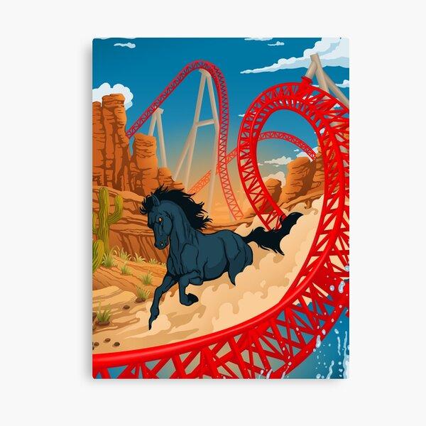 THE WILD ONE Maverick Roller Coaster Cedar Point Theme Park Canvas Print