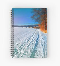 Hiking through a sunny winter scenery Spiral Notebook