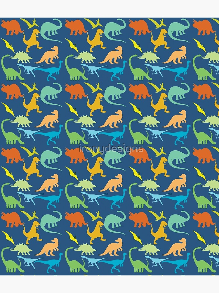 Colorful Dinosaur Pattern  by ironydesigns
