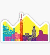 Cairo skyline pop Sticker