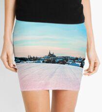 Village scenery in winter wonderland Mini Skirt