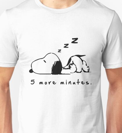 Snoopy 5 More Minutes Sleeping Funny T-shirt