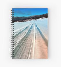 Winter road into the mountains Spiral Notebook