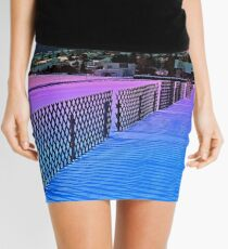 Fences on a winter sundown Mini Skirt