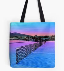 Fences on a winter sundown Tote Bag