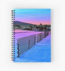 Fences on a winter sundown Spiral Notebook