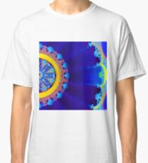 Blue Floral Dome Classic T-Shirt