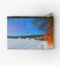 Hiking through a sunny winter scenery Studio Pouch