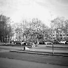 #NeinGrenze - Parking lot b&w by OLIVER W