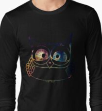 Coloured Freakout Owl Long Sleeve T-Shirt