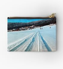 Winter road into the mountains Studio Pouch