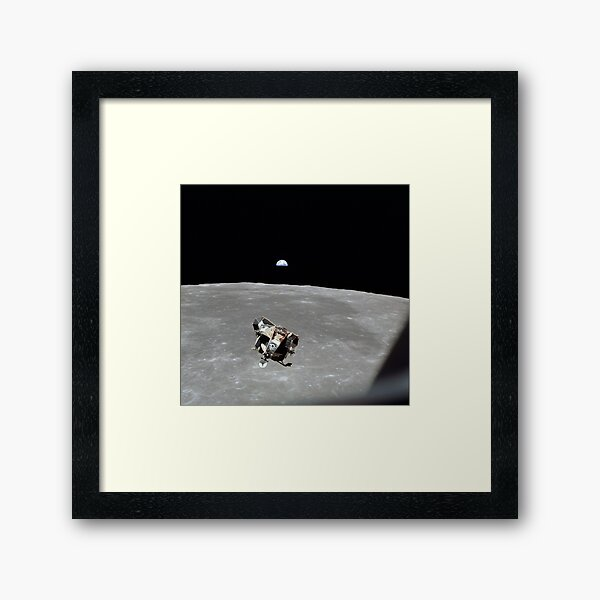 Vintage Apollo 11 Moon Mission Eagle's Ascent Framed Art Print