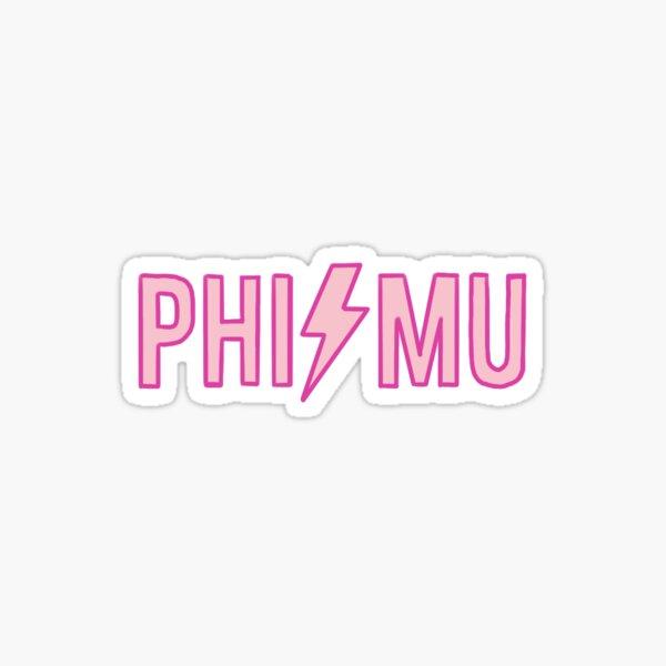 PHI MU LIGHTNING Sticker
