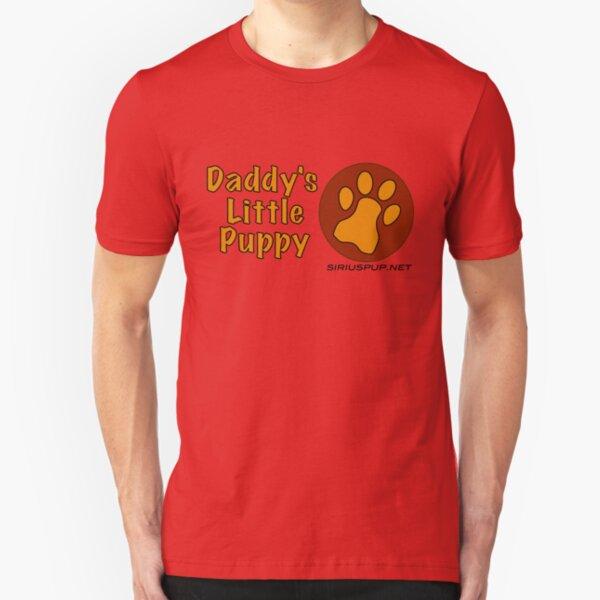 Daddy's Little Puppy Slim Fit T-Shirt