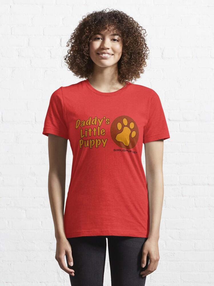 Alternative Ansicht von Papas kleiner Welpe Essential T-Shirt