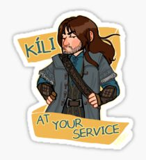 Kee at Your Service Sticker