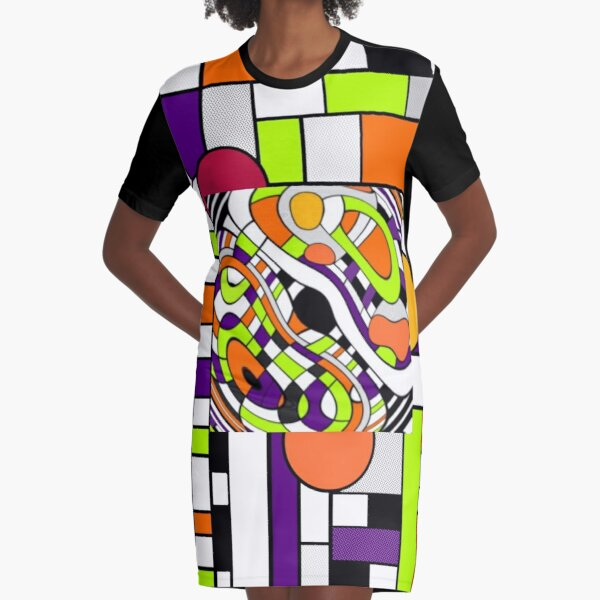 Looking Glass In A Blink Graphic T-Shirt Dress