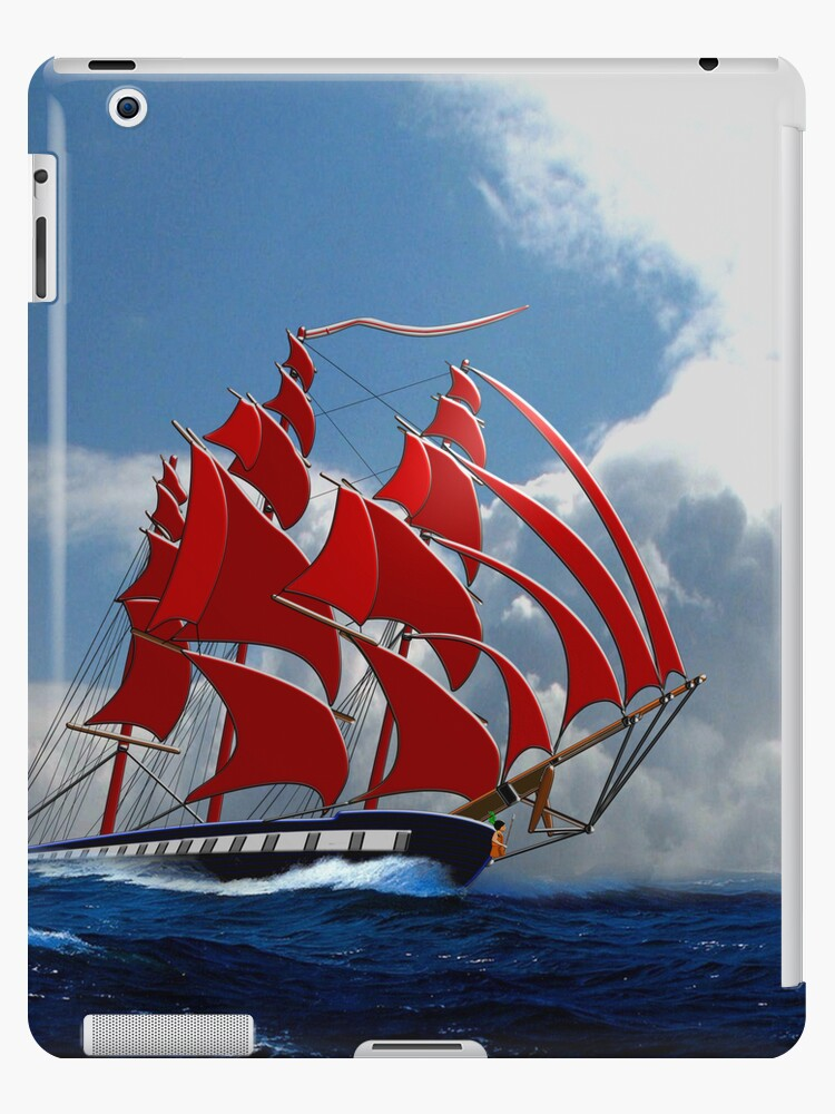 Clipper Ship Indian Queen iPad case by Dennis Melling