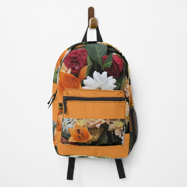 Paris Fall Flowers Backpack