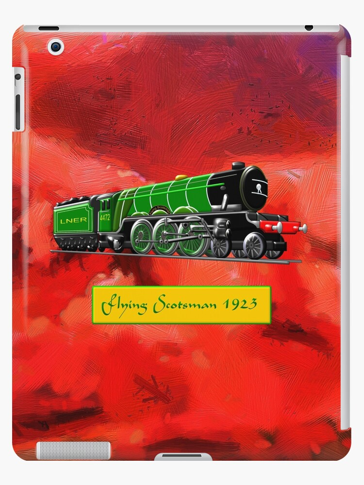 Steam Locomotive - The Flying Scotsman 1923, iPad case by Dennis Melling