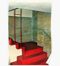 Frank Lloyd Wright Designed Stairway, Florida Southern College, Lakeland, Florida Poster