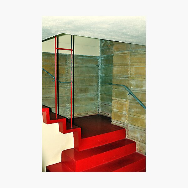 Frank Lloyd Wright Designed Stairway, Florida Southern College, Lakeland, Florida Photographic Print