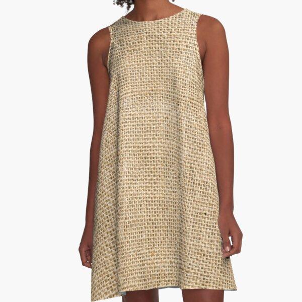 Burlap Fabric A-Line Dress