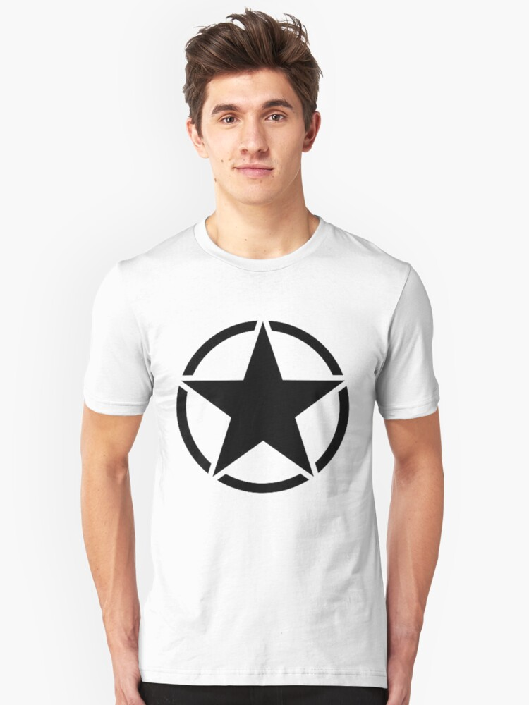 Military Invasion Star Unisex T-Shirt Front