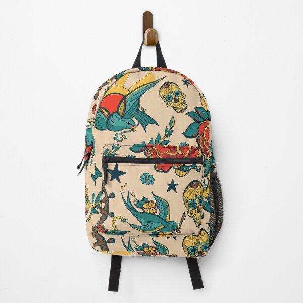 Punk Tattoo Pattern Design and Illustration Backpack