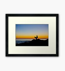 Aladdin Silhouette Framed Print