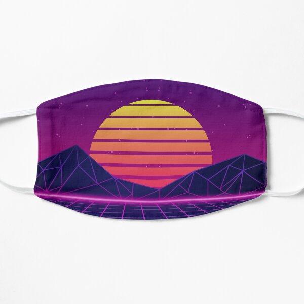 Synthwave Sunset Aesthetic Flat Mask