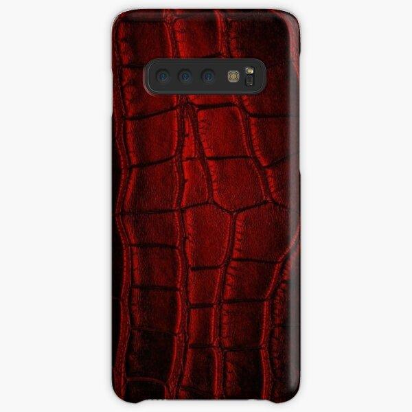 Dark Red Crocodile Leather Samsung Galaxy Snap Case
