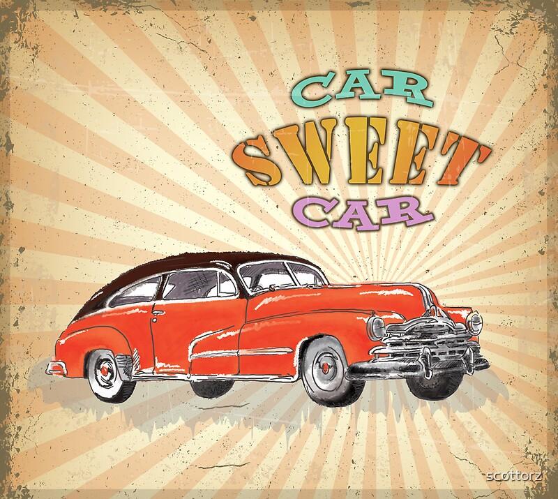 Retro Vintage Style : Car Sweet Car\