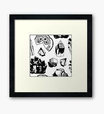 Crystals Framed Print