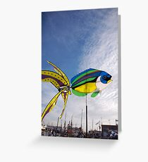Colourful fish windmill, Brest Maritime Festival, Brittany, France Greeting Card