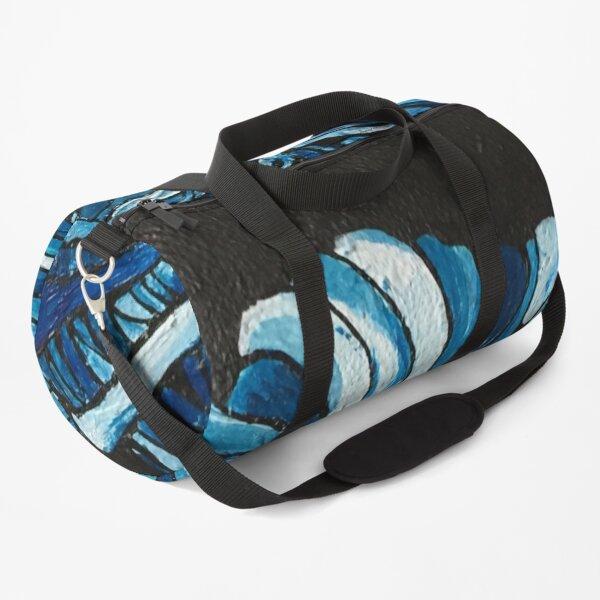 Blue ball of wool  Duffle Bag