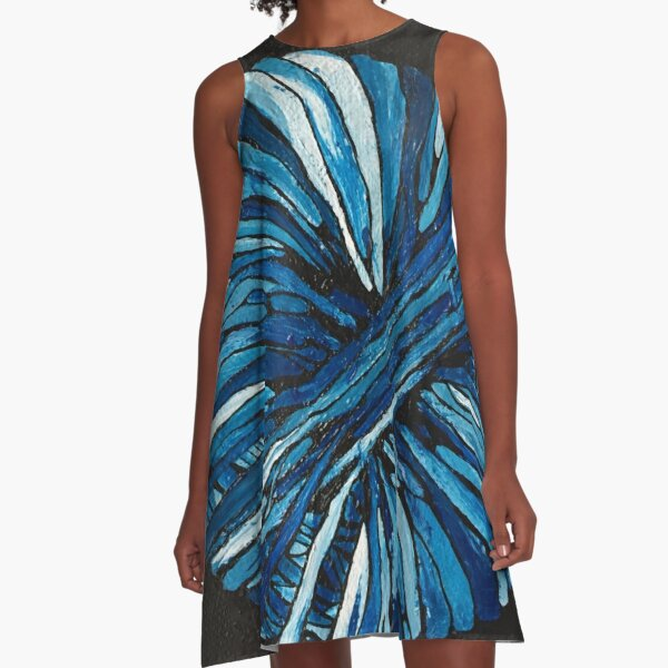 Blue ball of wool  A-Line Dress
